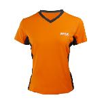 女版V領運動上衣-橘黑