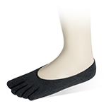 五趾隱形襪-黑-6雙