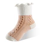 健康童襪-麻花橘-6雙